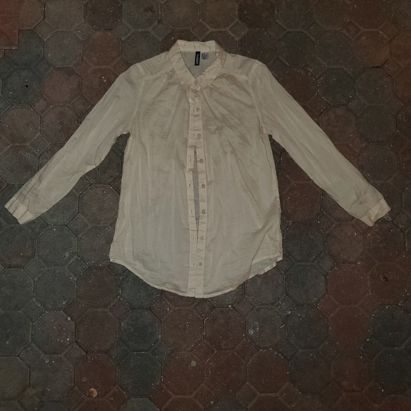 Divided by H&M Tops - Beige Button Down Shirt